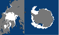 Antarctic and Actic sea ice data set (1979-2019)