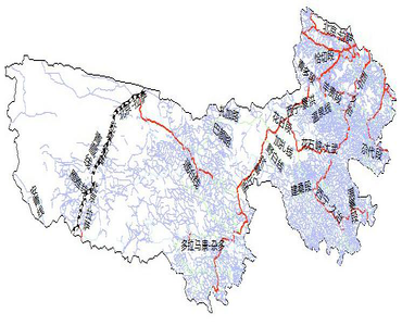 Primary road network dataset at 1:250,000 of the Three Rivers Source Region (2015)